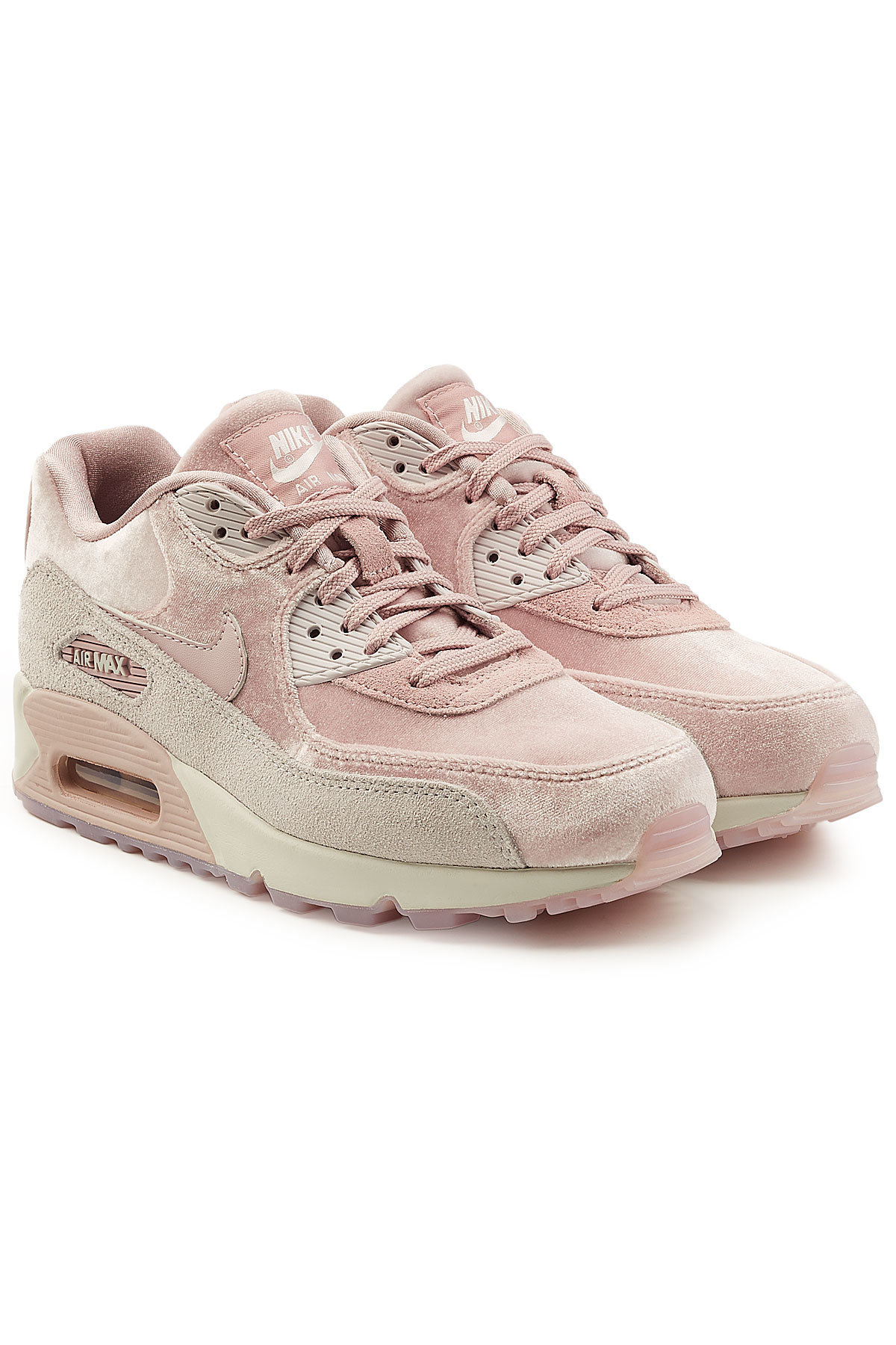 Pink Air Max 90 Suede Sneakers by Nike - Canary Rook